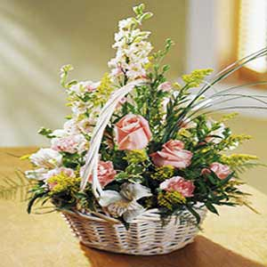 Basking Ridge Florist | Larkspur Basket