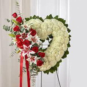 Basking Ridge Florist | Rose Lily Heart