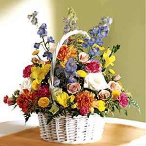 Basking Ridge Florist | White Basket