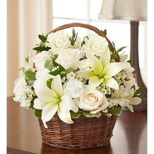 Basking Ridge Florist | Basket of Whites