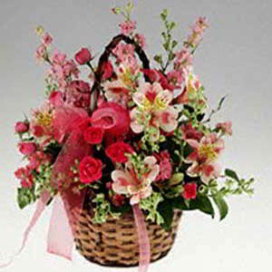 Basking Ridge Florist | Basket of Pinks