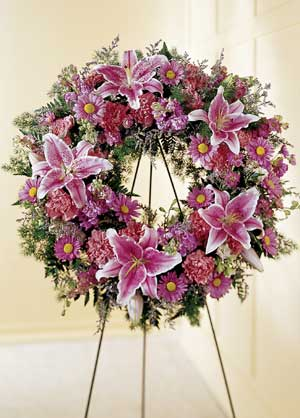 Basking Ridge Florist | Lily Wreath