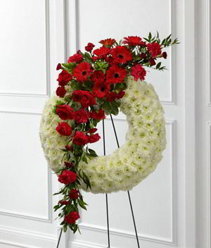 Basking Ridge Florist | Rose Gerber Wreath