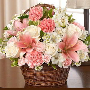 Basking Ridge Florist | Pink Basket