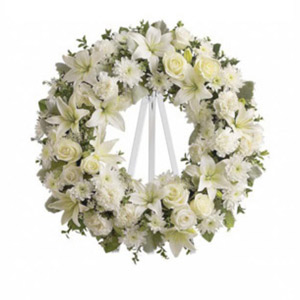 Basking Ridge Florist | White Wreath