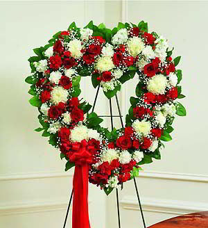 Basking Ridge Florist | Red & White Heart